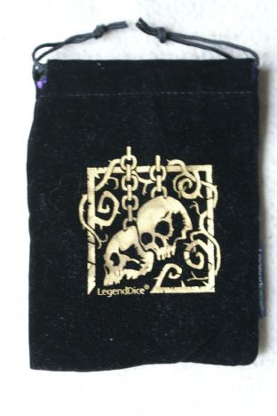 APF LGBKGD Large Dice Bag Black with Gold Skull Motif